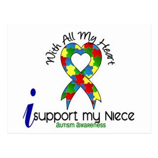 Autismo eu apoio minha sobrinha cartão postal