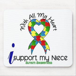 Autismo eu apoio minha sobrinha mouse pad