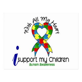 Autismo eu apoio minhas crianças cartão postal