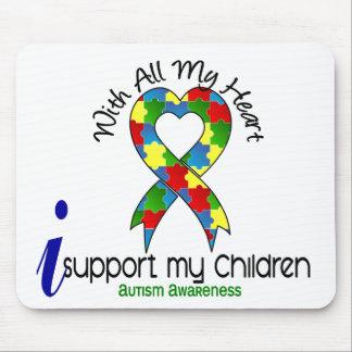 Autismo eu apoio minhas crianças mouse pad