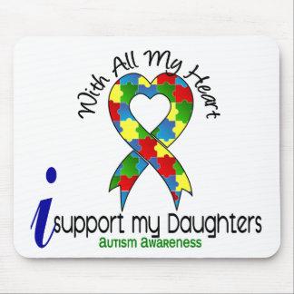 Autismo eu apoio minhas filhas mouse pads