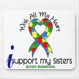 Autismo eu apoio minhas irmãs mousepads