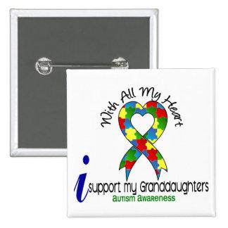 Autismo eu apoio minhas netas pins