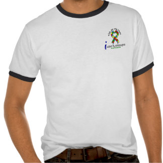 Autismo eu apoio minhas netas t-shirts