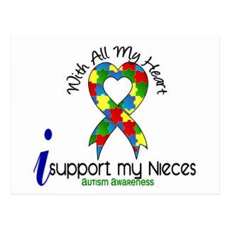 Autismo eu apoio minhas sobrinha cartão postal