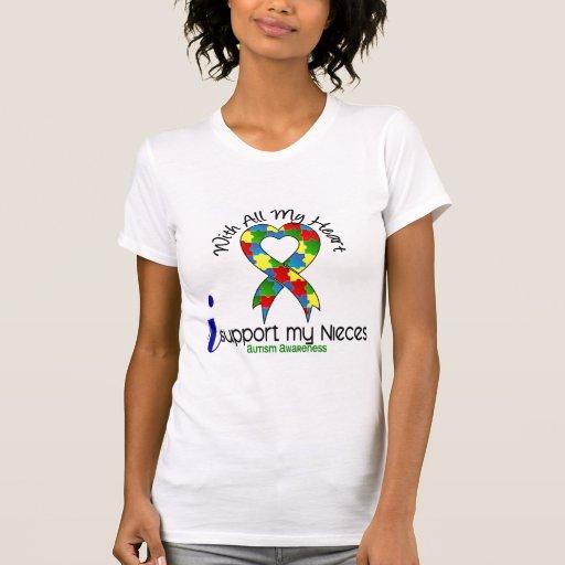 Autismo eu apoio minhas sobrinha t-shirts