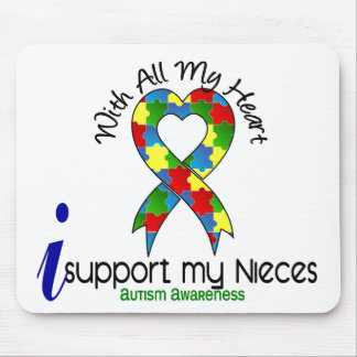 Autismo eu apoio minhas sobrinha mousepad