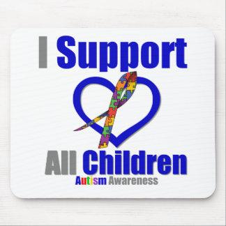 Autismo eu apoio todas as crianças mousepad