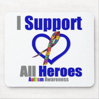 Autismo eu apoio todos os heróis mouse pads