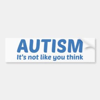 Autismo não é como você pensa adesivo para carro