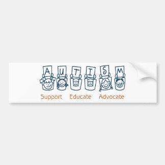 Autismo: O apoio educa o advogado Adesivo Para Carro