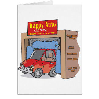 Auto cartões felizes do lavagem de carros