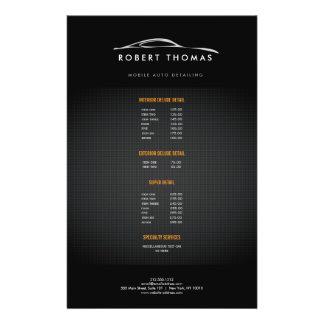 AUTO DETALHE PRETO, INSECTO DA REPARAÇÃO DE FLYER 13.97 X 21.59CM