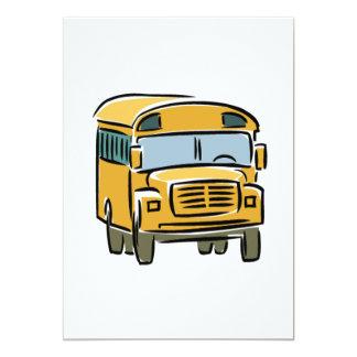 Auto escolar 2 convite 12.7 x 17.78cm