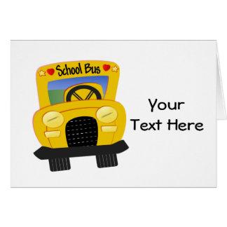 Auto escolar 2 (customizável) cartão comemorativo