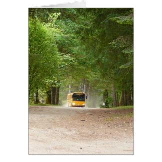 Auto escolar amarelo grande cartão comemorativo