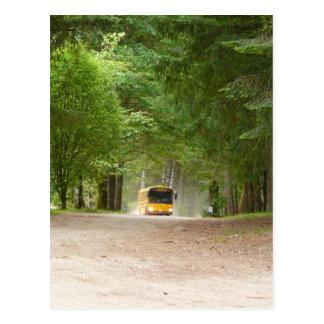 Auto escolar amarelo grande cartão postal
