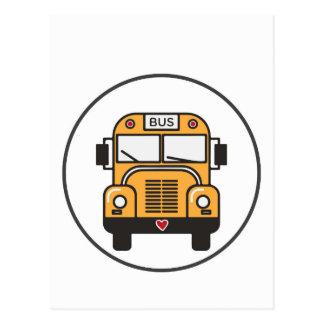 Auto escolar bonito cartão postal