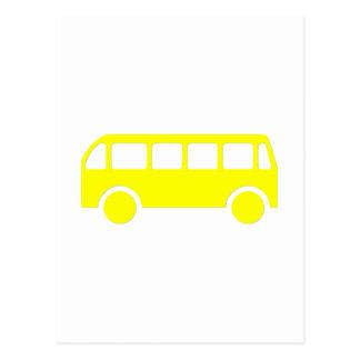 Auto escolar cartão postal