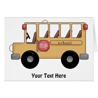 Auto escolar (customizável) cartão