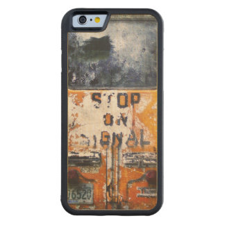 Auto escolar do vintage capa de carvalho bumper para iPhone 6