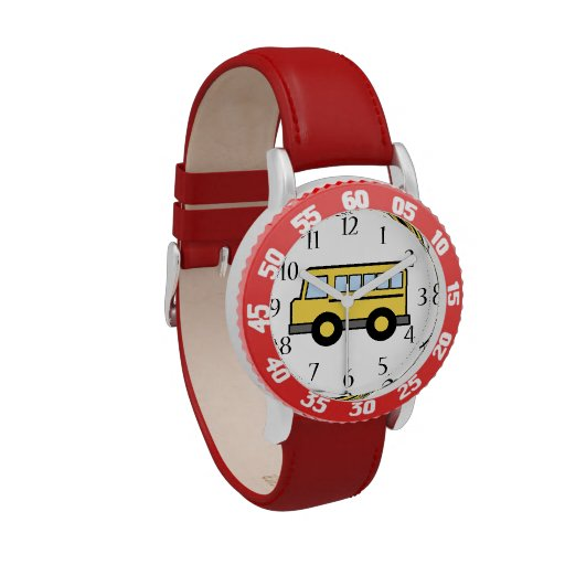 Auto escolar relógio de pulso