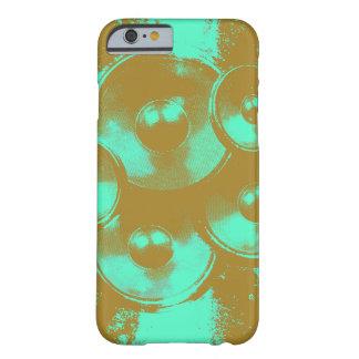Auto-falante alaranjados e verdes da música capa barely there para iPhone 6