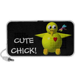 """Auto-falante bonito do """"doodle"""" do pintinho! caixinhas de som para laptop"""