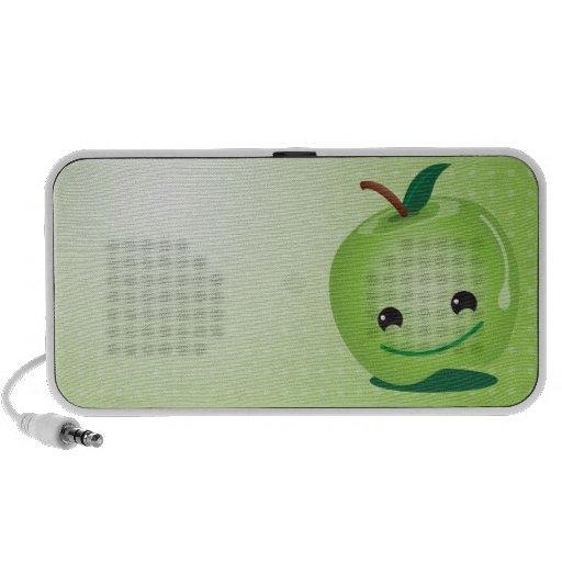 Auto-falante bonitos da maçã verde caixinhas de som