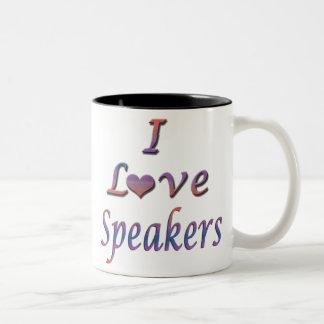 auto-falante caneca de café em dois tons