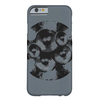 Auto-falante cinzentos e pretos da música capa barely there para iPhone 6