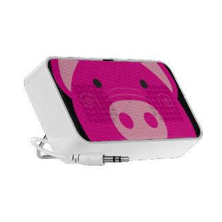 Auto-falante cor-de-rosa bonito do porco caixinhas de som para pc