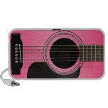 Auto-falante cor-de-rosa do Doodle da guitarra Caixinha De Som Para Viagem