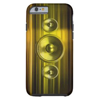 Auto-falante da música com as raias claras do ouro capa tough para iPhone 6