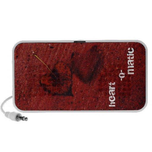 auto-falante do coração-o-matic caixinha de som para mini