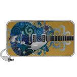 auto-falante do doodle da guitarra dos azuis caixinhas de som para iPhone