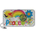 Auto-falante do Doodle da paz e do amor Caixinhas De Som Para Mp3