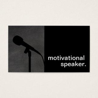 Auto-falante inspirador da silhueta moderna do cartão de visitas