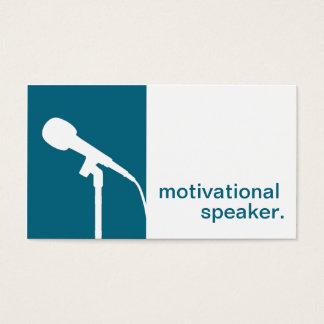 Auto-falante inspirador do ícone moderno da cartão de visitas