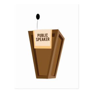 Auto-falante público cartão postal