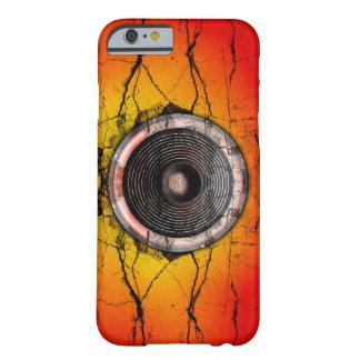 Auto-falante vermelho e alaranjado do Grunge da Capa Barely There Para iPhone 6