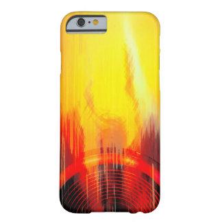 Auto-falante vermelho e amarelo da música capa barely there para iPhone 6