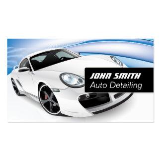 Auto lavagem de carros de detalhe moderno cartão de visita