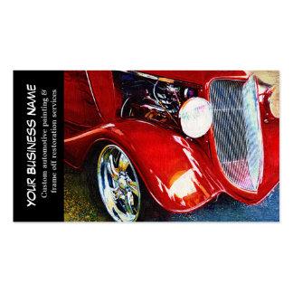 Auto negócios de pintura do carro clássico cartão de visita
