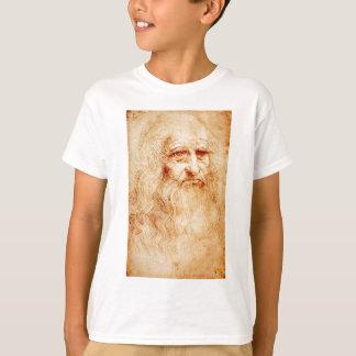 Auto-Retrato de Leonardo da Vinci cerca de T-shirt
