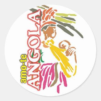 Autocolante - Amo-te Angola Adesivo