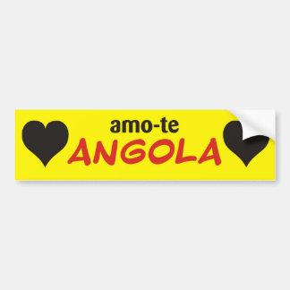 autocolante amo-te angola amarelo adesivo para carro