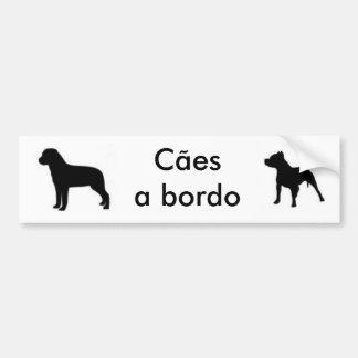 autocolante cães a bordo-Rott e Pit Adesivo Para Carro