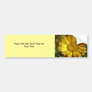 Autocolante de automóvel flor amarela adesivos