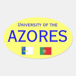 Autocolante do dos Acores* de Universidade Adesivo Oval